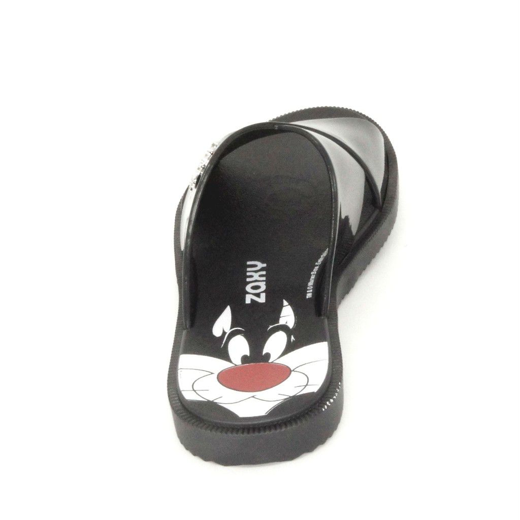 346236e62c Chinelo Slide Looney Tunes Zaxy 17762 - Preto - Via Calce Lojas