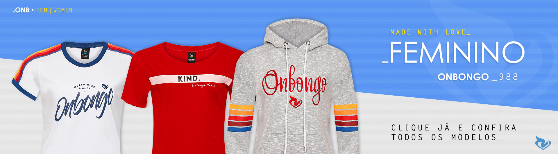 Feminino Onbongo - Loja Virtual Oficial