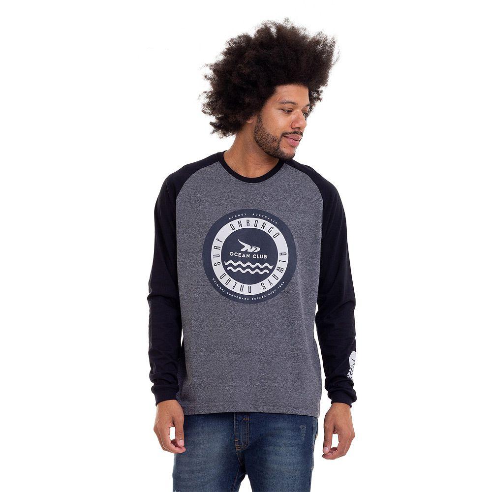 Camiseta ML Onbongo Aus Waves Masculina