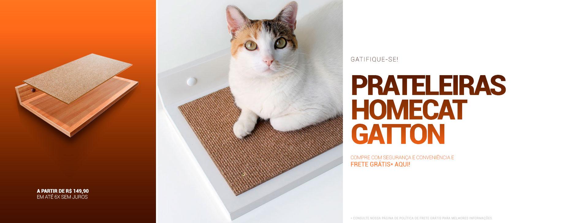 Prateleiras Homecat Gatton: especialíssimas ao seu bichano!