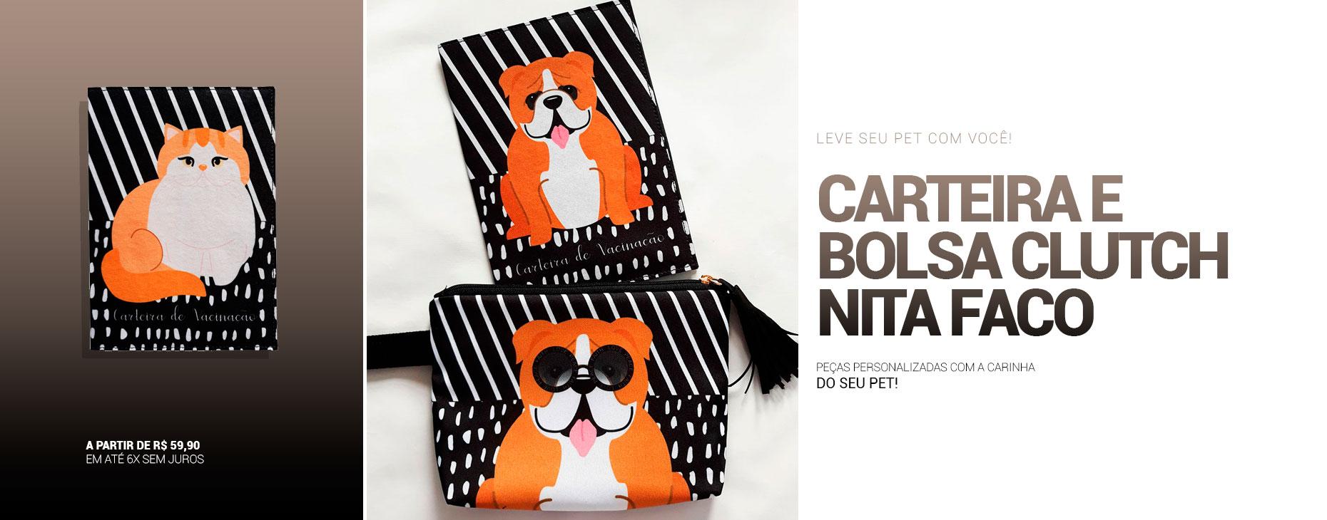Bolsas e porta carteiras de vacinação com a carinha do seu pet!