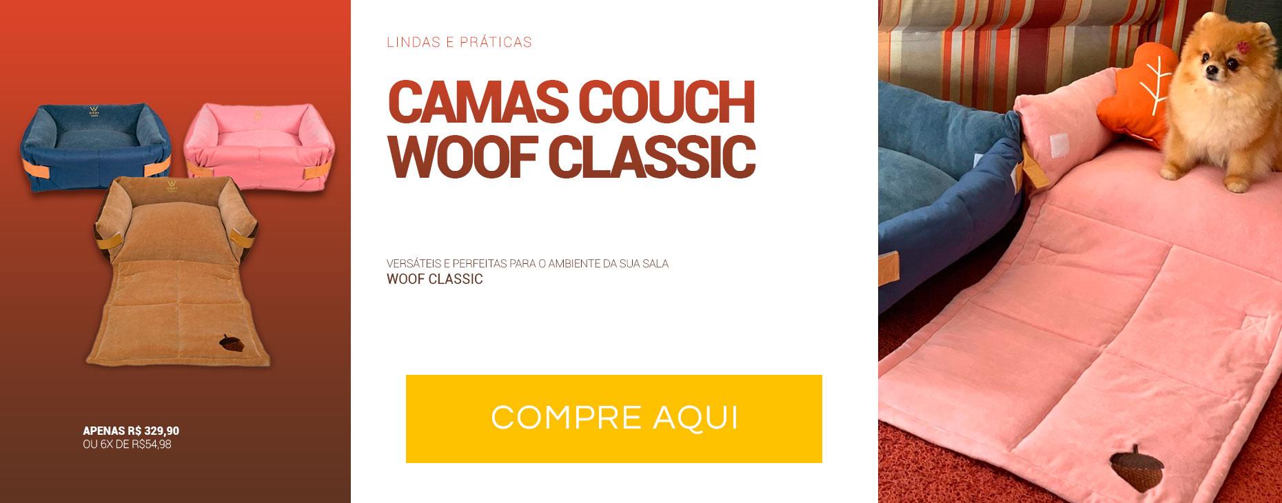 Caminhas Especiais Couch Woof Classic. Versátil e linda para sua sala!