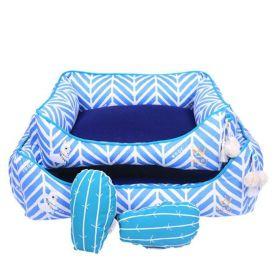 Cama Woof Classic LLama Chevron Azul