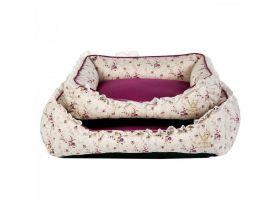 Cama Woof Classic Renda Floral Roxa