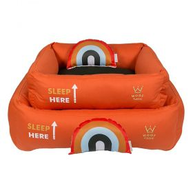 Cama Woof Classic Sweet Dreams Side Sleep Laranja