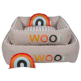 Cama Woof Classic Sweet Dreams Side Sweet Laranja