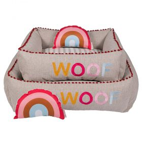 Cama Woof Classic Sweet Dreams Side Sweet Rosa
