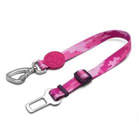 Cinto de Segurança Rosa para cães Linha Educativa by Cleber Santos®
