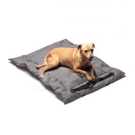 Colchonete Sustentável Cinza para cachorro Cachorreiros