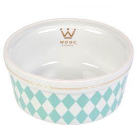 Comedouro Woof Classic Deep Losango Tiffany