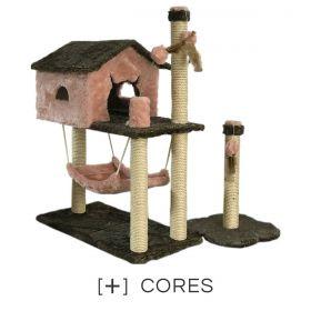 Kit Arranhador Casinha com Rede + Torre Stanley Petite Sofie