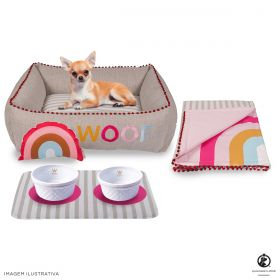 Kit Cama Side Sweet Rosa Sweet Dreams Woof Classic