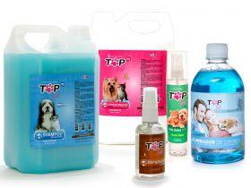 Kit Higiene Completa Top Vet: Shampoo Branqueador + Condicionador + Reparador de pelos e mais!