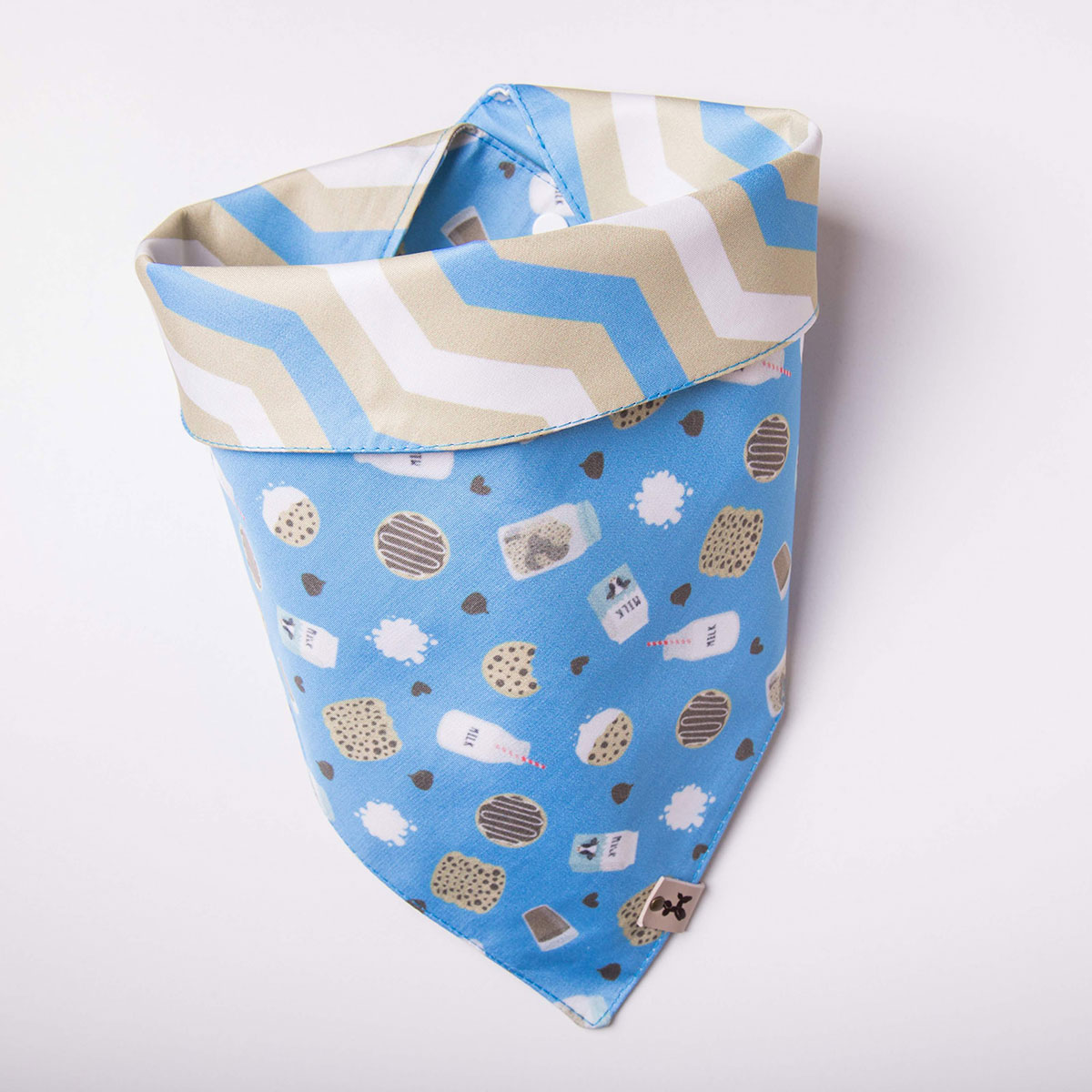 Bandana para cachorro Bo.be dupla face Cookies&Milk