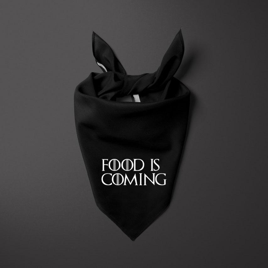 Bandana para cachorro Bo.be Food Is Coming