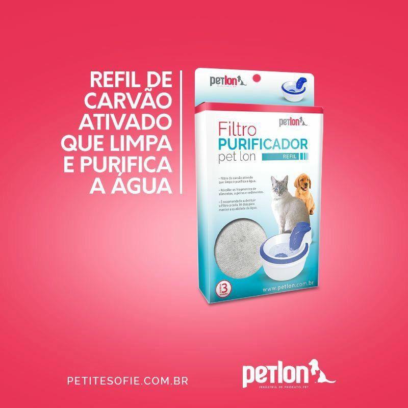 Bebedouro Automático Azul + Filtro + Tigela Kitty Love AFP para Gatos