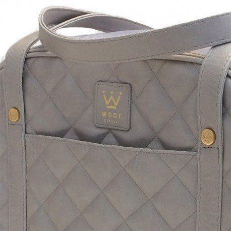 Bolsa Woof Classic Matelassê Cinza para Transporte Pet