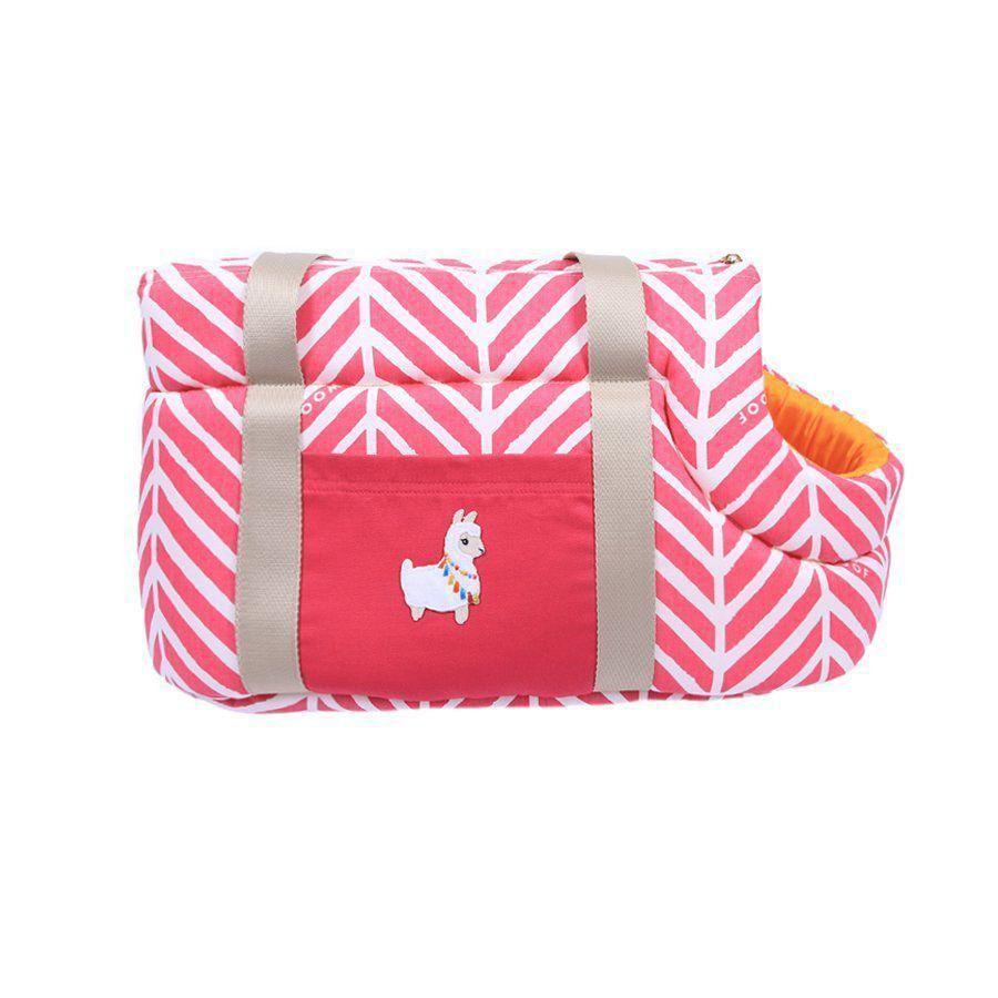 Bolsa Woof Classic de passeio Llama Pink