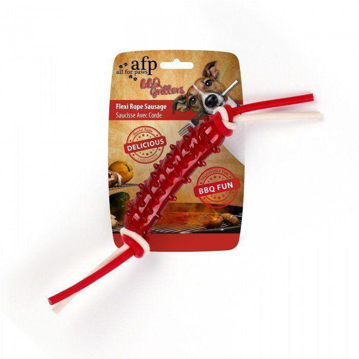 Brinquedo mordedor em TPR Rope Sausage AFP