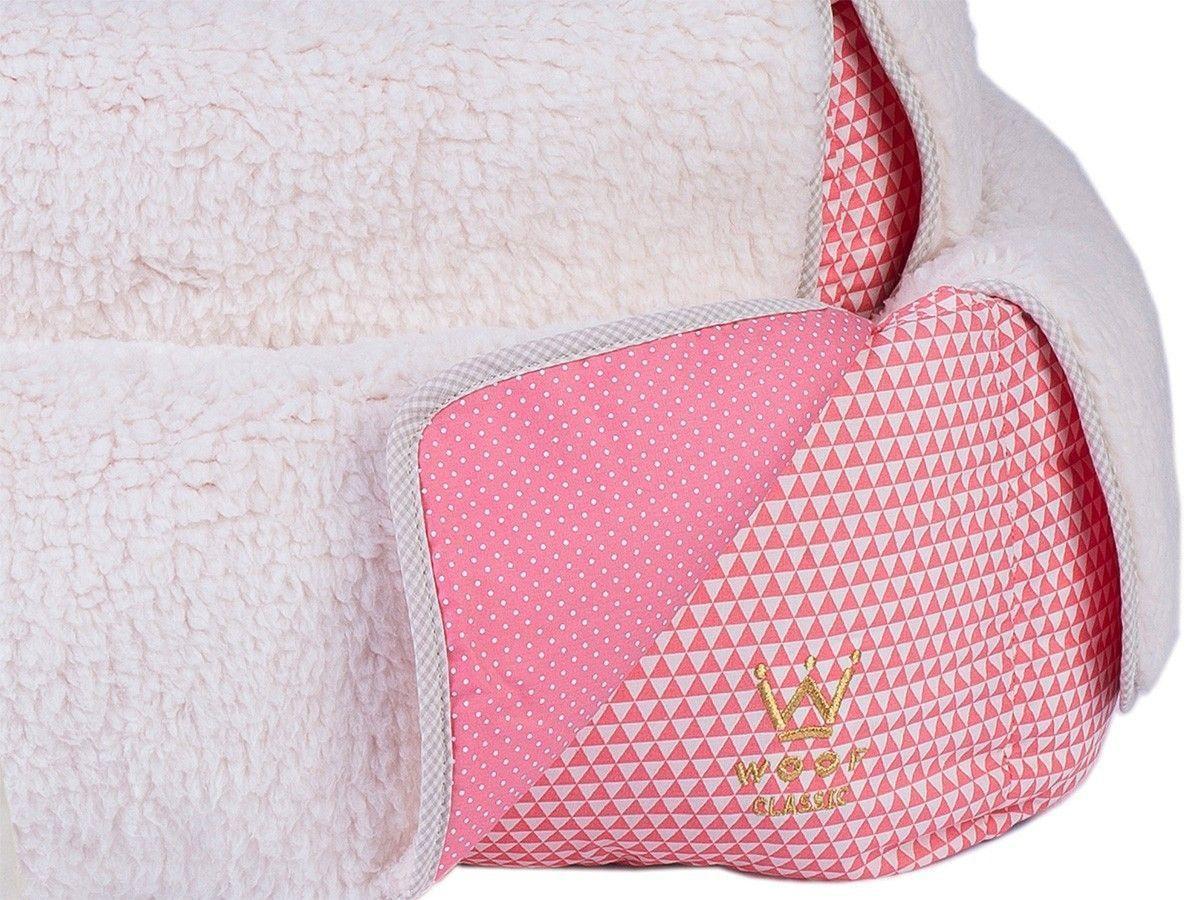 Cama com Capa Woof Classic Triângulo Rosa