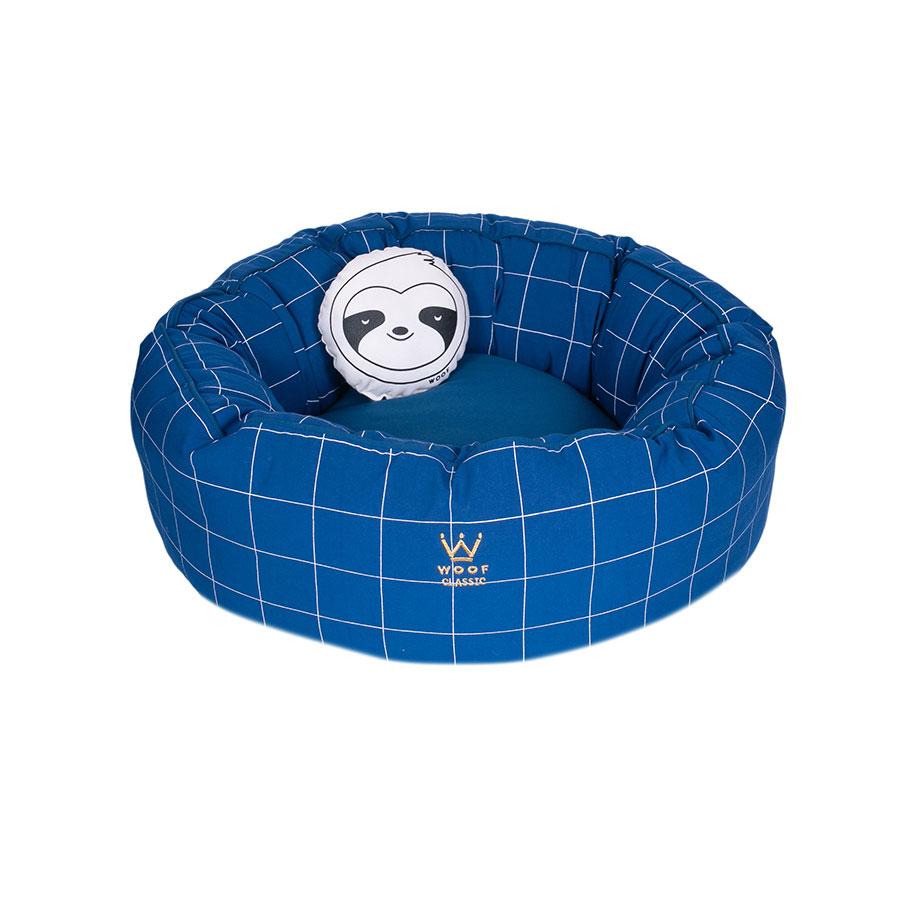 Cama Fofinha Lazzy Grid Woof Classic Azul