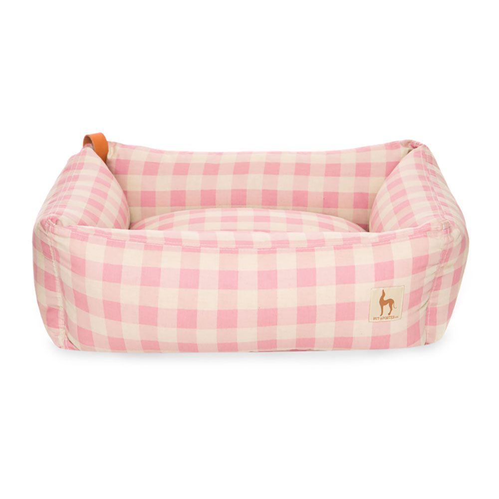 Cama para Cachorro Luxury Xadrez Rosa Pet-à-Porter