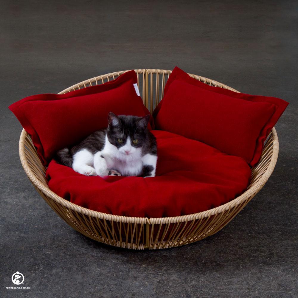 Cama para Gatos Artesanal de Luxo Chaise Baloo