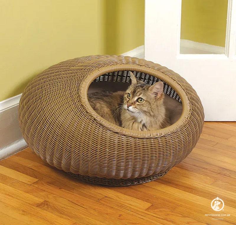 Cama para Gatos Artesanal de Luxo Chaise Hobbit