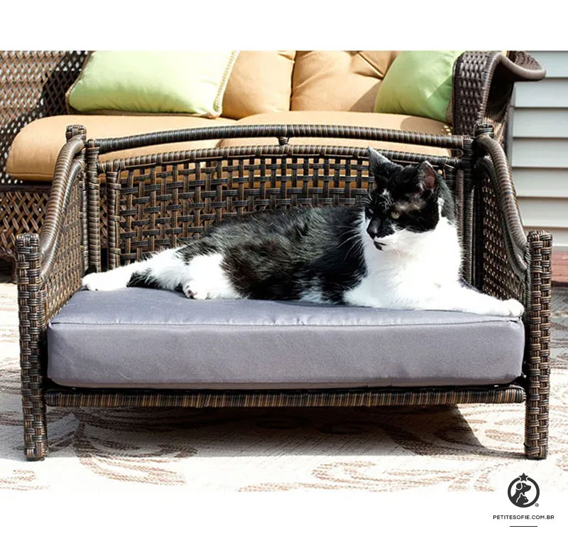 Cama para Gatos Artesanal de Luxo Chaise Puck