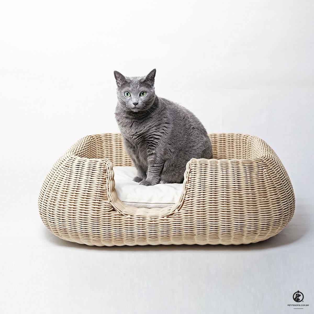 Cama para Gatos Artesanal de Luxo Chaise Serena