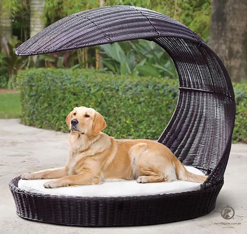 Cama Pet Artesanal de Luxo Chaise Beinji