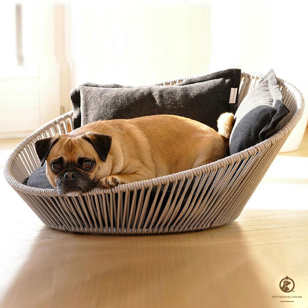 Cama Pet Artesanal de Luxo Chaise Bubba