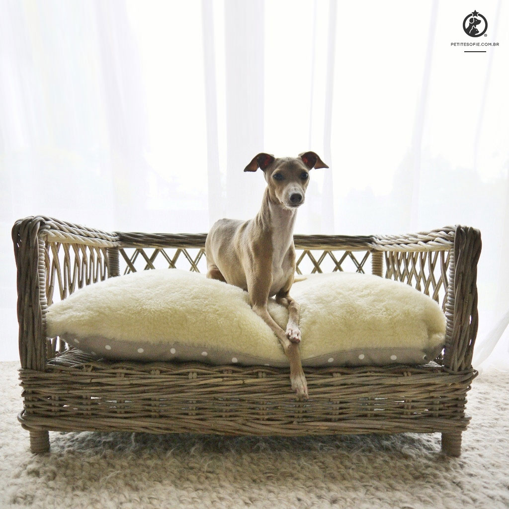 Cama Pet Artesanal de Luxo Chaise Oreo
