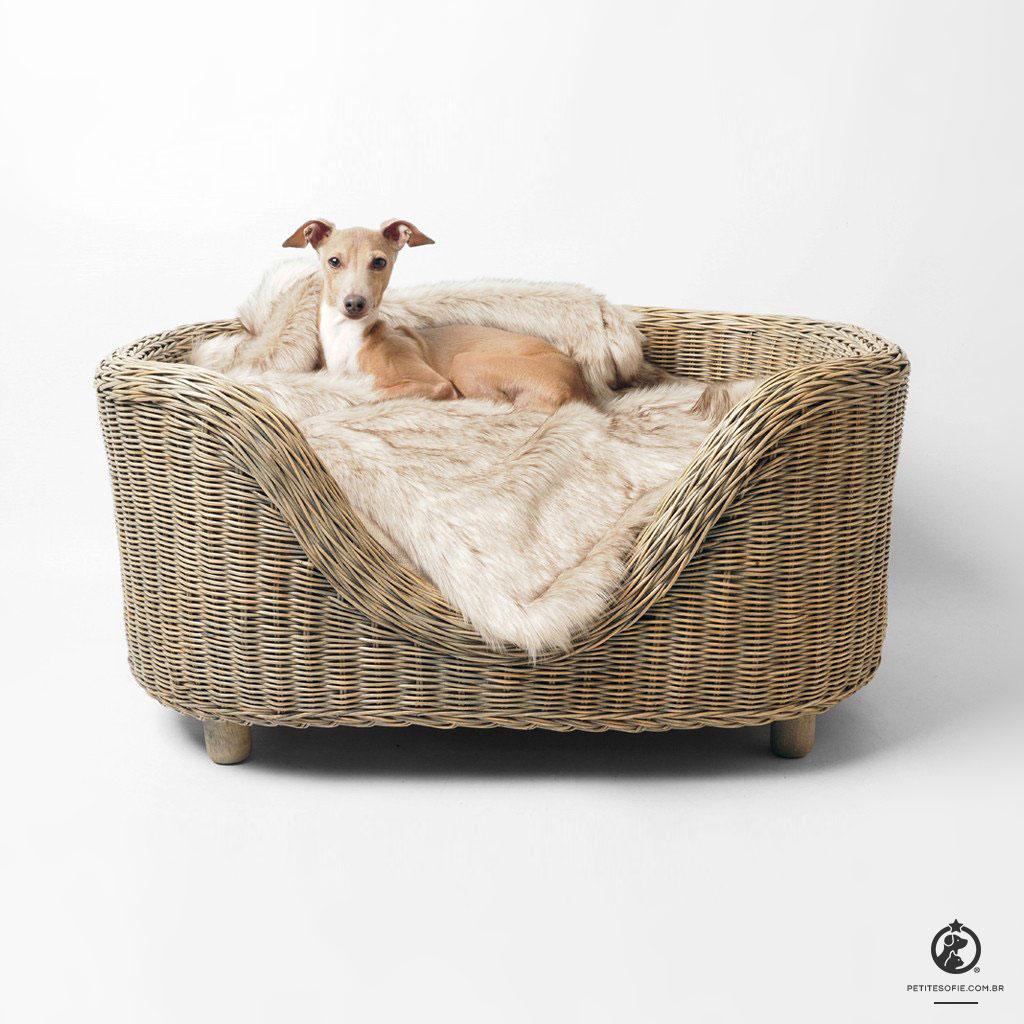 Cama Pet Artesanal de Luxo Chaise Ziggy