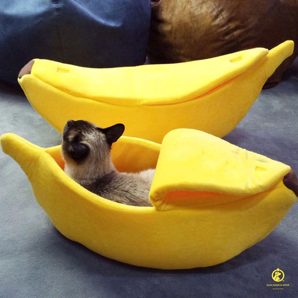 Cama em forma de Banana para Gatos