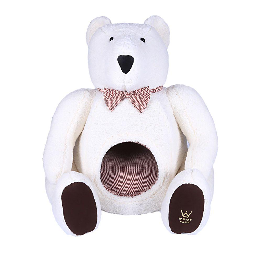 Cama Urso Polar Branco Woof Classic