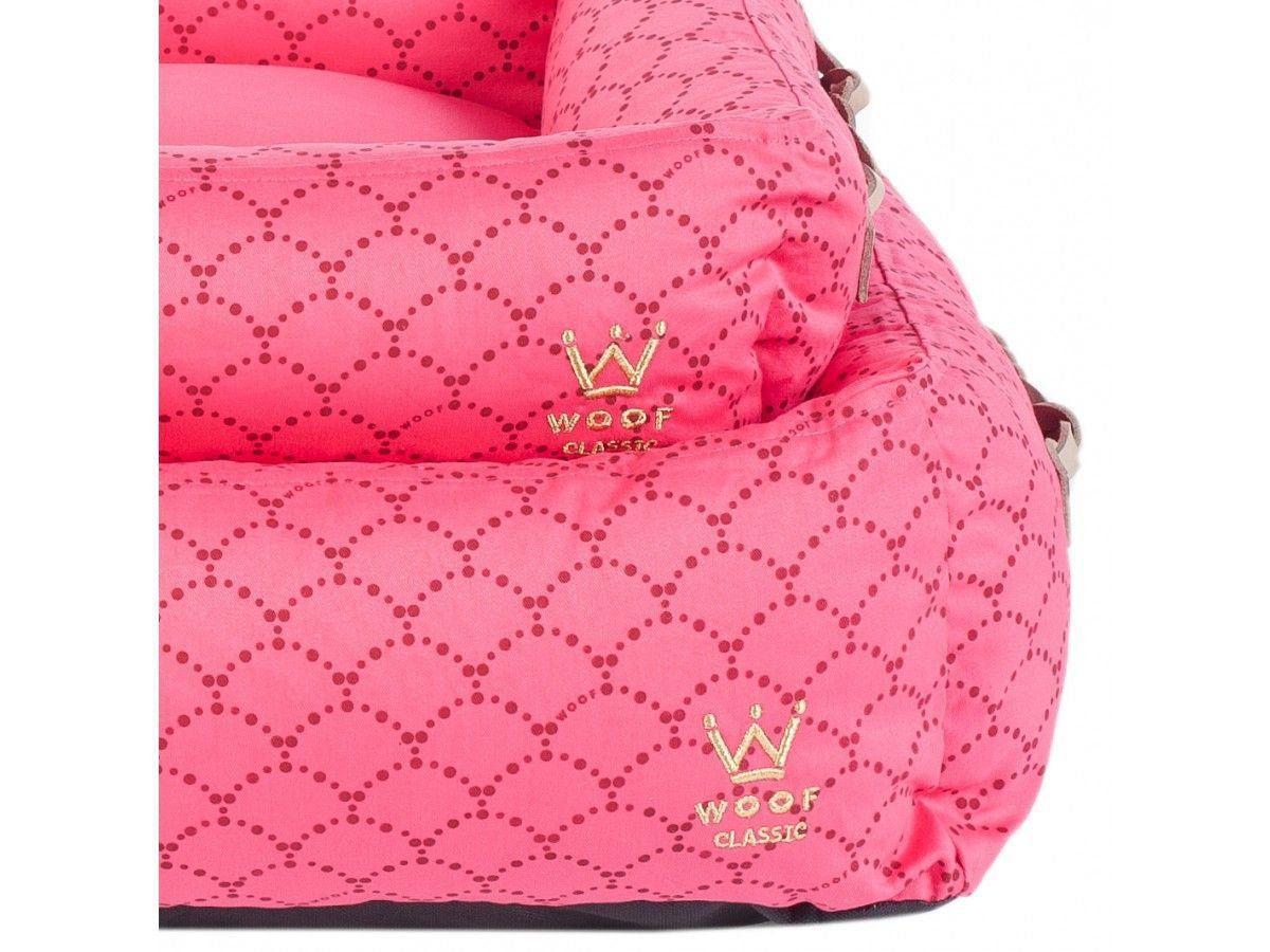 Cama Woof Classic com Alça de Couro Sereia Pink