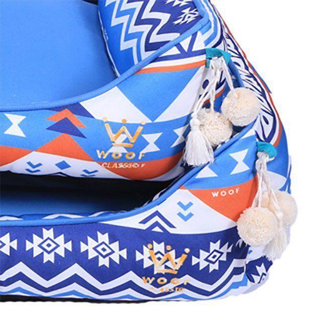 Cama Woof Classic LLama Étnico Azul