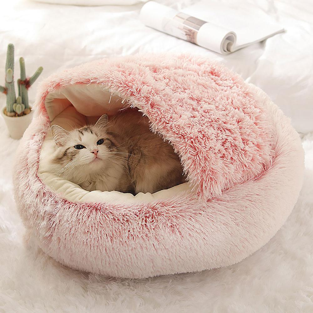 Caminha Cave Maison Douce 50cm para Cães e Gatos Petite Sofie - Interior Liso
