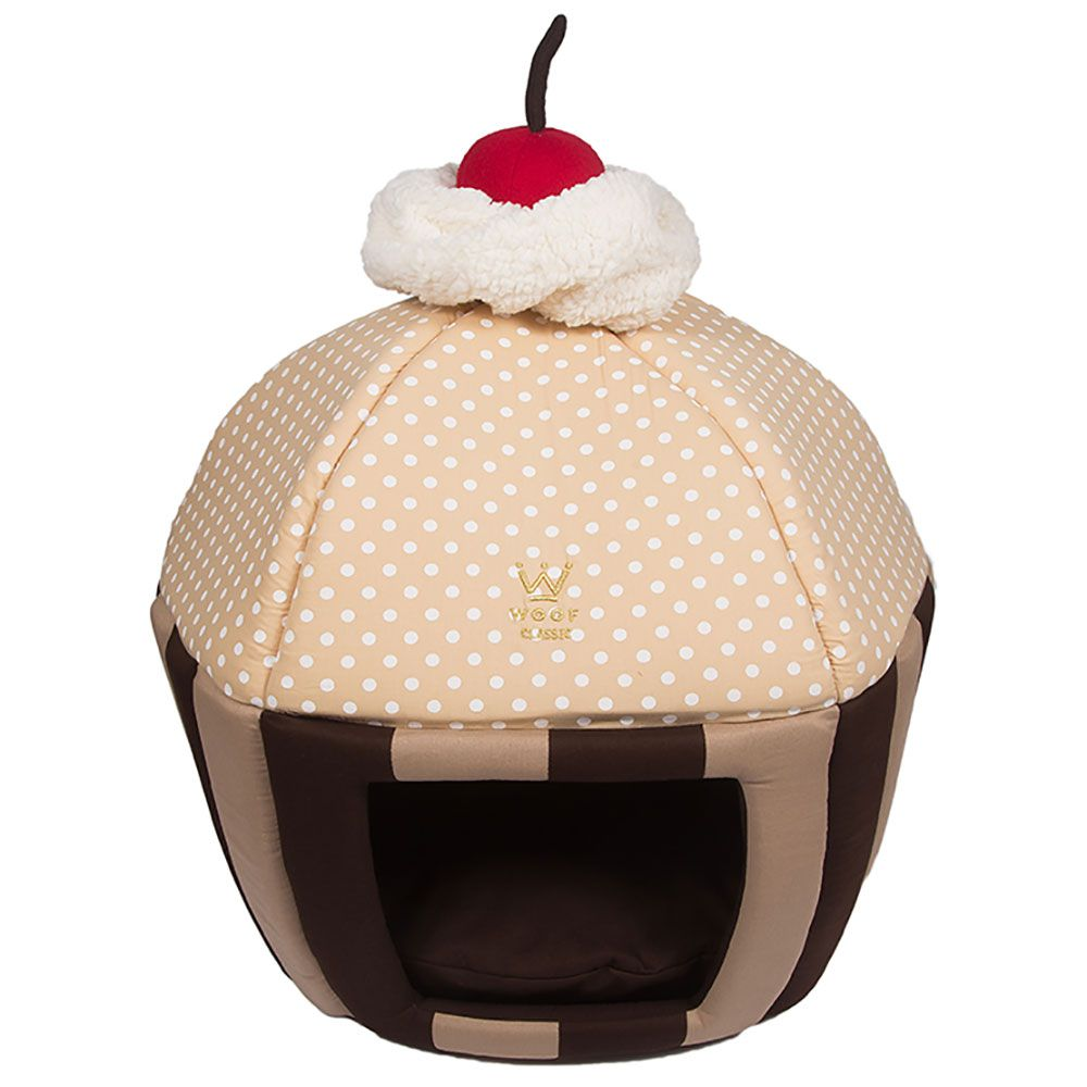 Cama Cupcake Woof Classic Listra Marrom