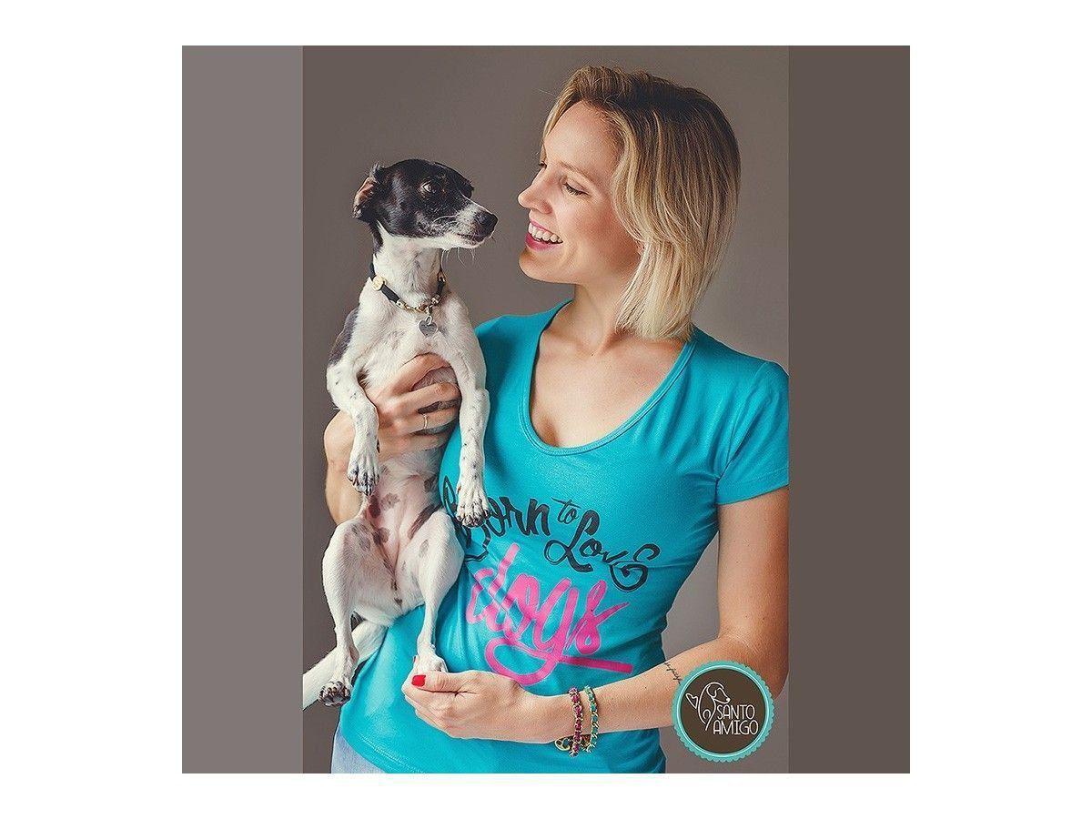 Camiseta Born to Love Dogs