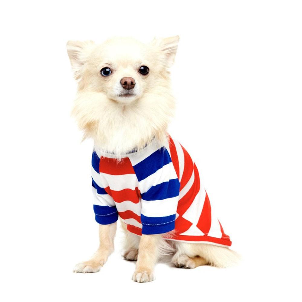 Camiseta Pet Haglan Street Stripes Vermelha My Boo