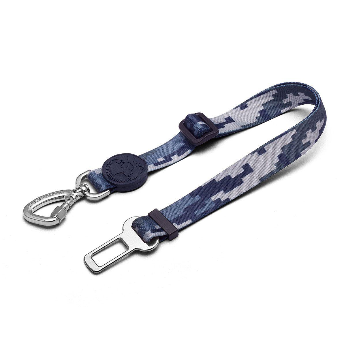 Cinto de Segurança Camuflado Cinza para cães