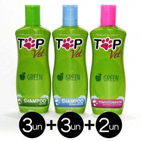Combo Shampoo e Condicionador Linha Green Top Vet 300ml