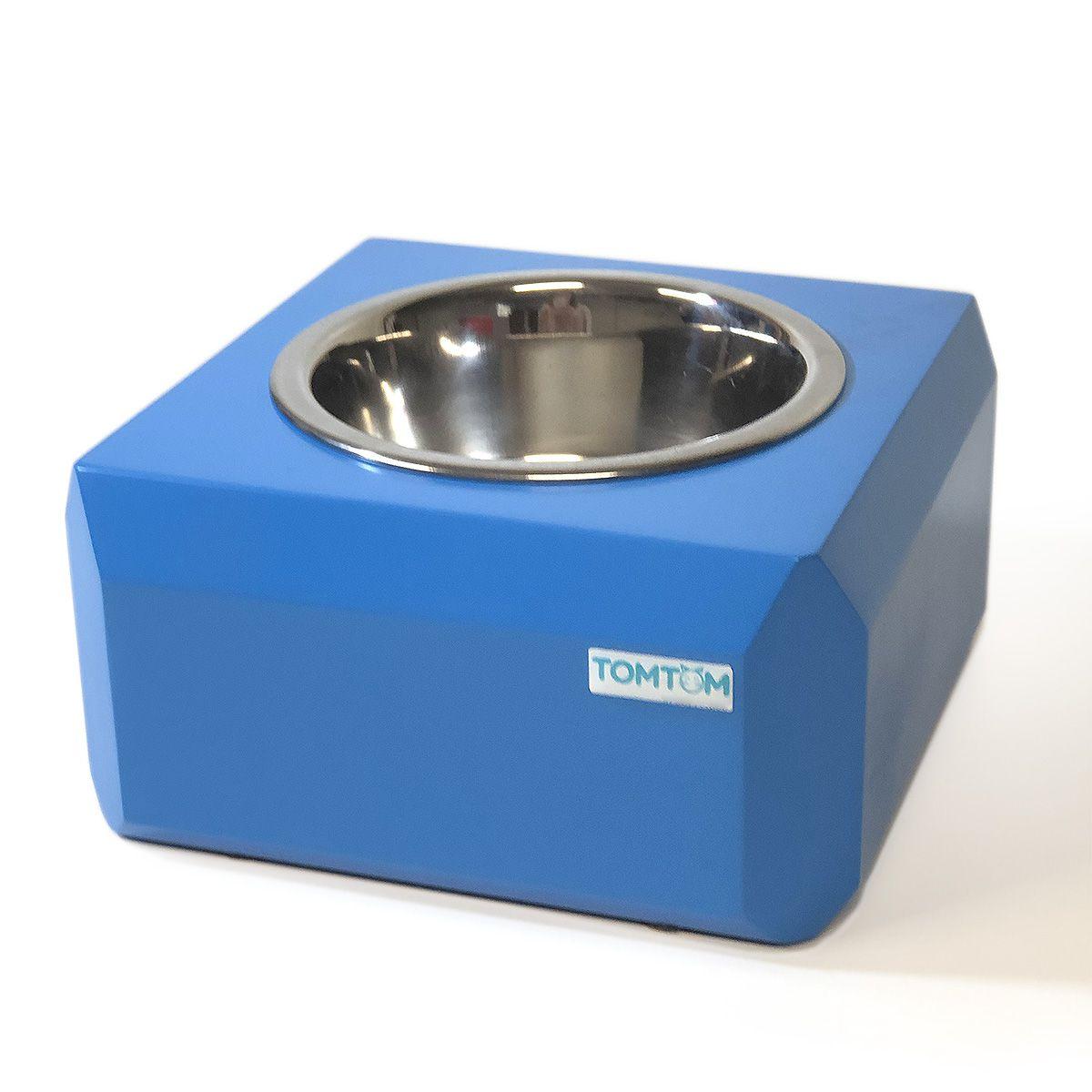 Comedouro Elevado Cubo Mágico Azul Tomtom