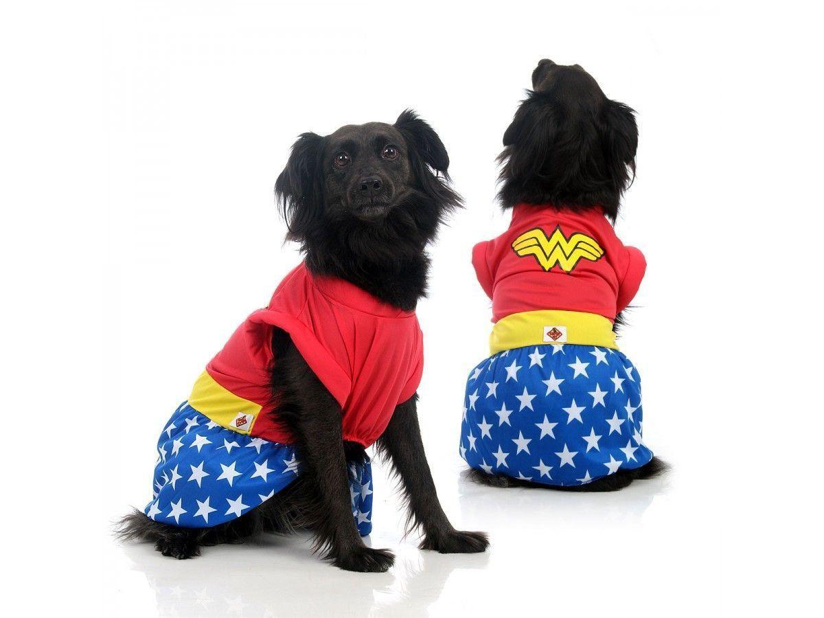 Fantasia para Cachorro Vestido Mulher Maravilha™ Licenciada