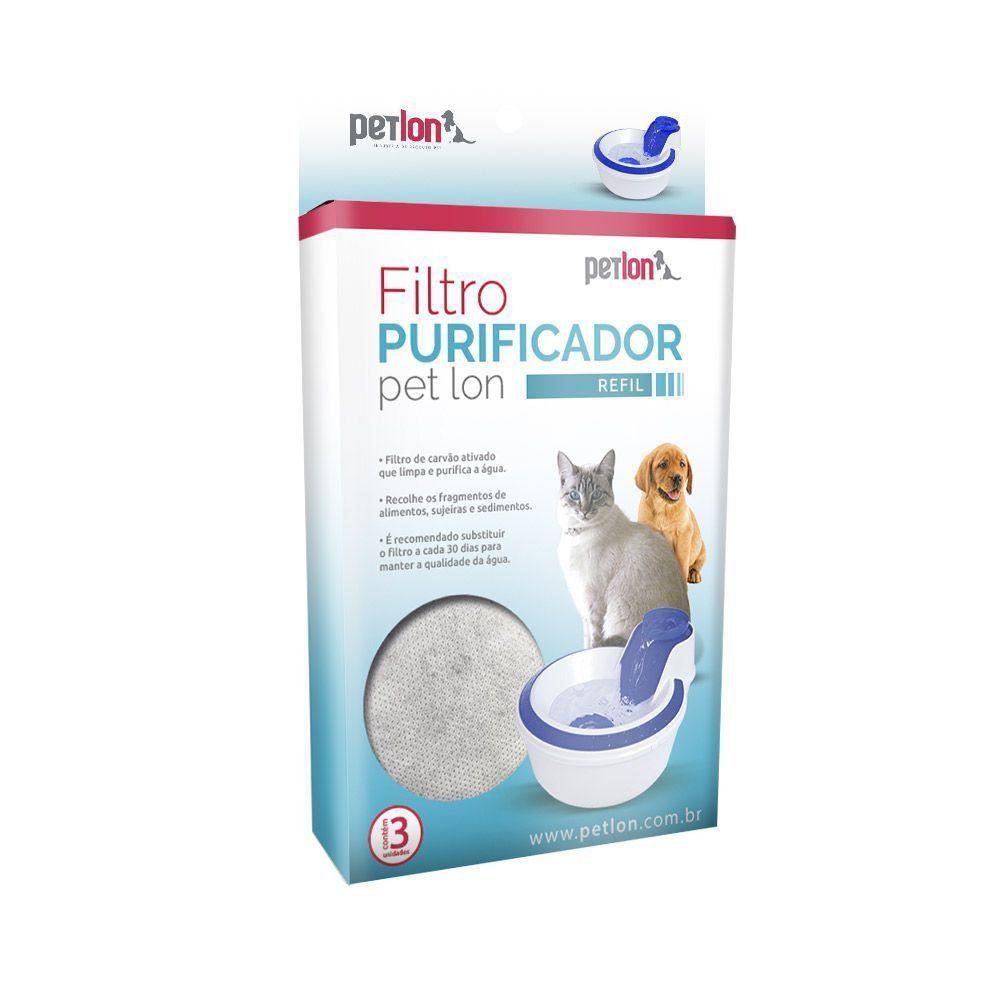 Kit com 3un Filtros Refil para Fonte Petlon