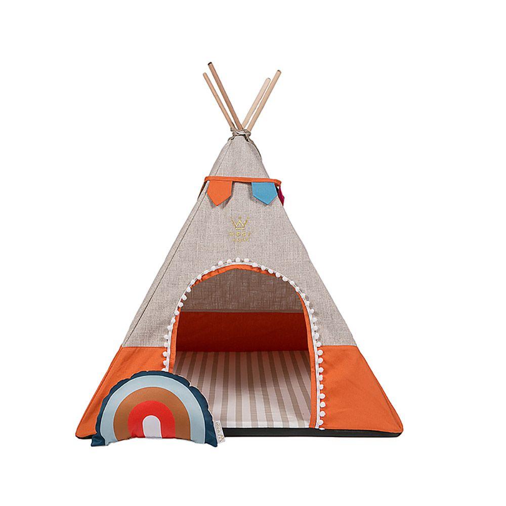 Kit Apache Sweet Dreams Woof (escolha a cor): Tenda + Tigelas + Edredom + Jogo Americano