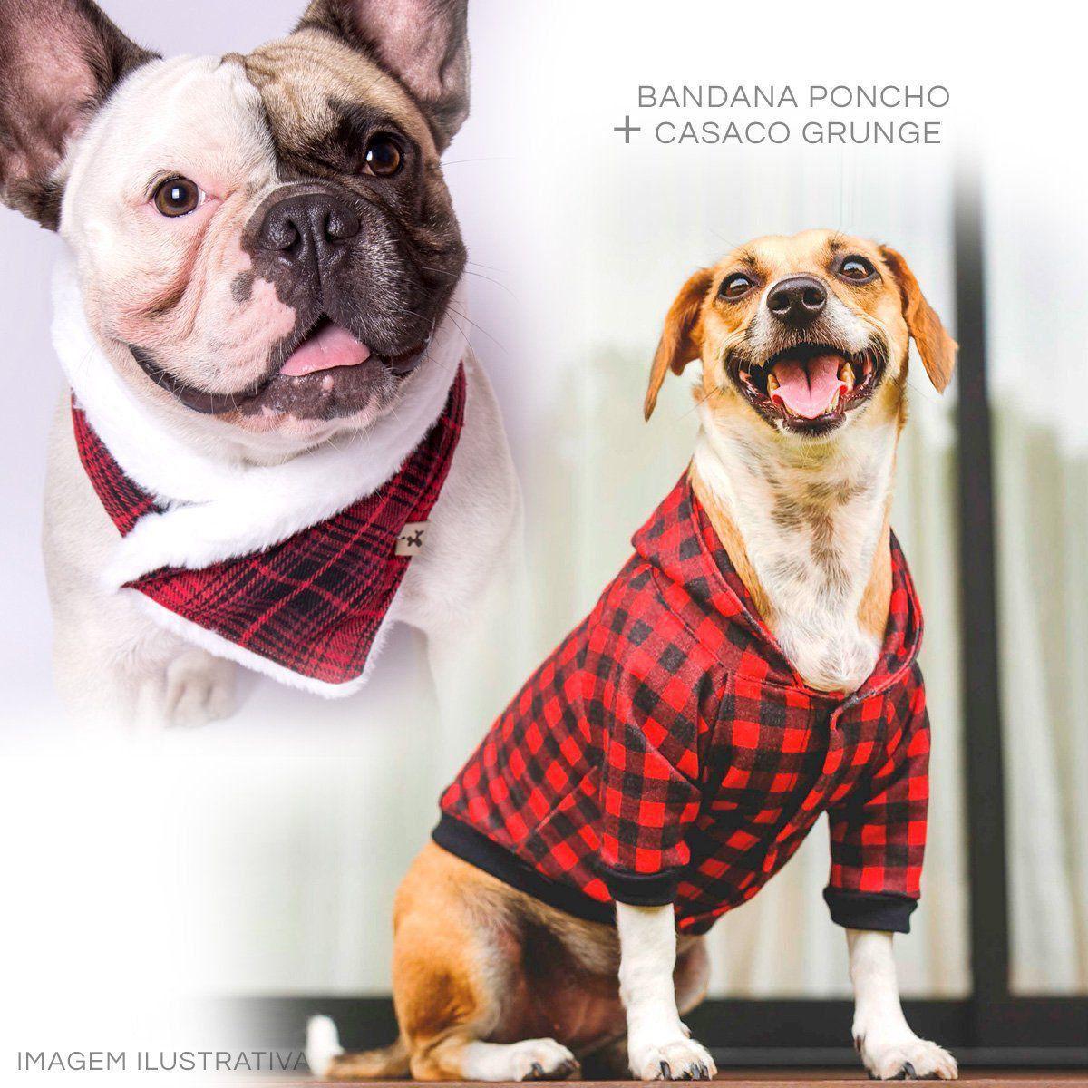 Kit Bandana Poncho Bo.be + Casaco Grunge Santo Amigo