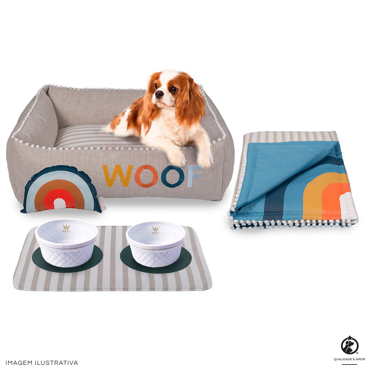 Kit Cama Side Sweet Azul Sweet Dreams Woof Classic
